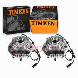 2 Pc Timken Front Wheel Bearing Hub Assembly For 2011 Ram 3500 Driveline Jx