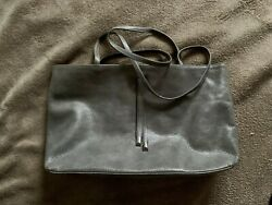 New Latico Grey Leather Shouler Bag/computer Purse