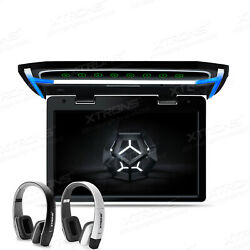 10.2 Slim Car Roof Overhead Flip Down Screen Monitor Game 1080p Hdmi+ Headsets