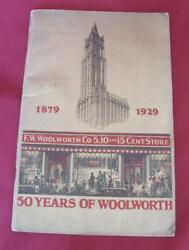 1929 Antique 50 Years Of Woolworth Stores Advertising Booklet