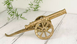 Vintage Collectible Figurine Cannon Brass Germany 23cm Home Decorative Table Art