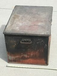 Wwi Metal Ambulance Box Metal Med Dept Usa Red Cross W Embossed Union Made Label