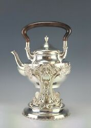 Beautiful Antique American Sterling Silver Repousse Kettle Mauser Mfg.co