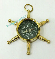 Lot Of 20 Pieces Nautical Brass Locket Compass Vintage Style Pocket Compass