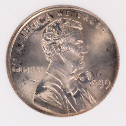 Ngc 1c 1999 Lincoln Cent On 1999-p Roosevelt Dime Double-denomination Ms66