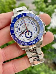 2020 Rolex Yachtmaster Ii Ref. 116680 Stainless Steel 44mm W/ Box And Papers