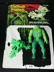 Vintage 1990 Swamp Thing With Snare Arm Complete W File Card Back Accessories