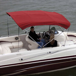 Shademate 80330 Red Bimini Top Polyester Fabric/boot Only,4-bow 8'lx54h,67-72w