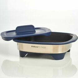 New Tupperware Micropro® Grill Stainless Microwave Grilling System Pro Series