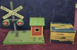 Vtg American Flyer 759 Bell Danger Signal And 696 Track Trip Red Bulbs Not Tested