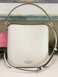 KATE SPADE DARCY SMALL BUCKET CROSSBODY SHOULDER BAG TOTE WHITE CREAM LEATHER $139.99