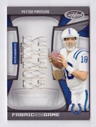 Peyton Manning Jersey /252009 Panini Certified Fabric Of The Game 112 Colts