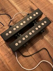 5 String Bridge And Neck Pickups For Jazz Bass Guitar With Wired Control Plate