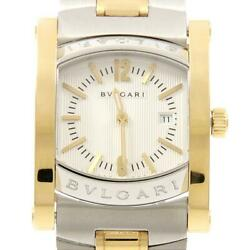 Authentic Bvlgari Aa39sg Aa39c6sgd Assioma Gold And Steel Ssxyg Quartz 260-00...