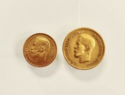 1899 Russian 10 And 5 Golden Coins