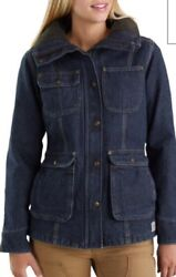 Nwt Weathered Duck Wesley Coat 102247 Fleece Lined Blue Size Small