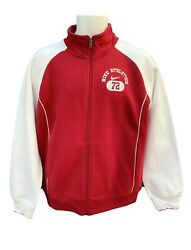 New Vintage Nike Ad Athletic Dept 72 Men's Track Jacket Full Zip Red And White M
