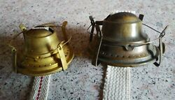 Pair Of Vintage 19th C. Pat. 1892 Safety Spring Wire Oil Lamp Burners Look