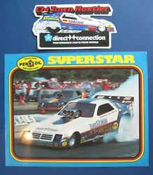 Pennzoil Superstar Frank Hawley Chi Town Hustler Decal And Nhra Hero Handout Card