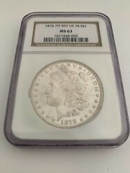1 1878 7 Tail Feathers Reverse Of 1878 Morgan Silver Dollar - Graded Ngc Ms 63