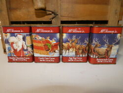 Vintage Mcsteven's Christmas Holiday Decoration Cocoa Spice Tin Lot