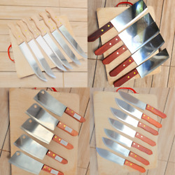 Kitchen Knife Set Utensils Chef Knives Carving Chopping Cutlery Wooden Handle