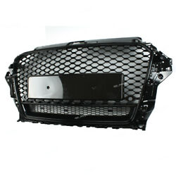 Front Bumper Grille Black Honeycomb Rs3 Style For 2014 2015 2016 Audi A3 S3 8v
