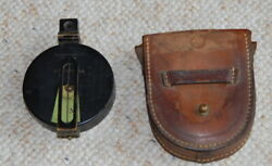 Vintage Keuffel And Esser Prismatic Compass With Case