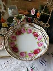 Antique Lovely Schumann Germany Marked Plate And Bowl