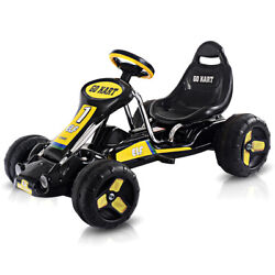 Go Kart Kids Ride On Car Pedal Powered Car 4 Wheel Racer Toy Stealth Outdoor New