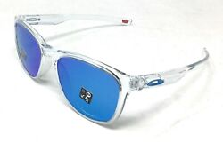 Trillbe X Menand039s Polished Clear Prizm Sapphire Sunglasses Oo9340-1952