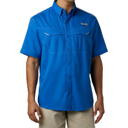 Columbia Sportswear Menand039s Pfg Low Drag Offshore Short Sleeve Shirt New