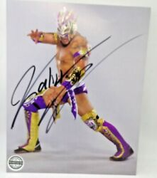 Pro Wrestling Crate Kalisto Autograph Signed 8 X 10 Photo Wwe Lucha Libre