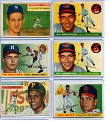 40 Ct. Lot 1955 And 56and039 Topps Baseball Set Fillers Vintage Clemente Ford Boyer Rc