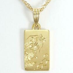 Jewelry 18k Yellow Gold Necklace About17.6g Free Shipping Used