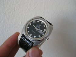 Rare Omega Seamaster Automatic Chronometer Day Date Watch Euro Model Serviced