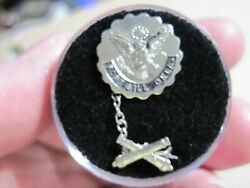 Ww2 Army Pb Pinback Sweetheart Pin Fort Sill Oklahoma Artillery Branch Sterling