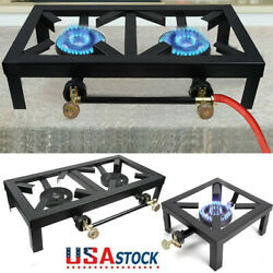 Outdoor Camp Stove Burner Cast Iron Propane Gas Lpg Bbq Cooker - 3/8 Male Flare