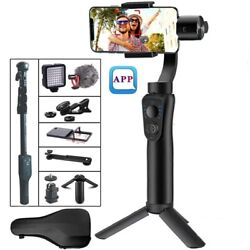 3 Axis Handheld Stabilizer Smartphone Zoom Face Tracking Gopro Camera Travel