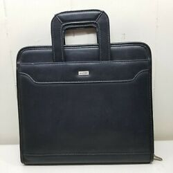 Franklin Covey Day One Black Binder Planner Retractable Handles Monarch