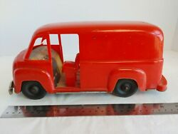 1950s Wyandotte Toy Delivery Van Red Plastic As Is For Parts Or Repair 14365