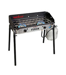 Camp Chef Yukon 2 Burner Camping Stove Outdoor Cooking With Regulator And 3in Hose