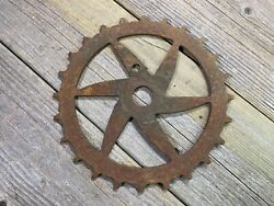 Antique Vintage Bike Bicycle Skip Tooth Chainring Inch Pitch Old One Piece Crank