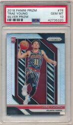 Trae Young 2018/19 Panini Prizm 78 Rc Rookie Silver Prizms Sp Psa 10 Gem Mint