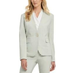 Dkny Womens Collarless Suit Separate Office One-button Blazer Jacket Bhfo 1212