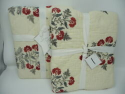 Pottery Barn Zarina King Sham S/2 Quilted Hand Crafted
