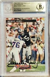 1992 Pro Line Profiles Auto Howie Long Raiders Complete Set 9 Of Cards W/beckett