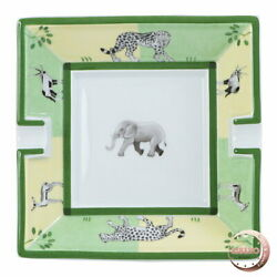 Hermes Africa Ashtray Green Sizew15.5cm X H4.0cm X D15.5cm With Box Accessories