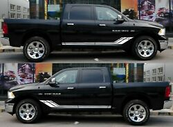 Side Stripe For Dodge Ram 1500 2500 Cover Door Graphic Top Chrome Hitch Bar