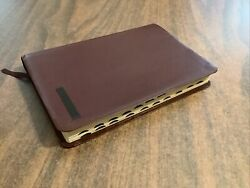 Niv 1984 Thinline Bible Indexed - Burgundy Bonded Leather - Out Of Print 84